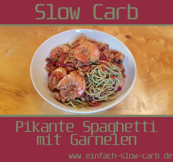 Pikante Spaghetti mit Garnelen