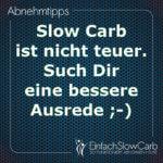 Slow Carb ist nicht teuer