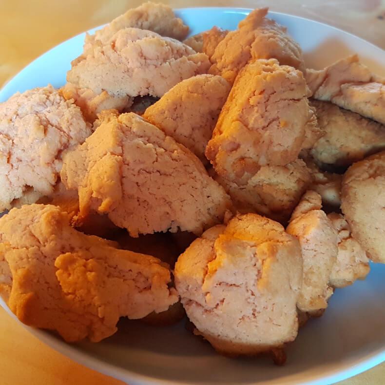 Linsenmehl-Protein-Kekse